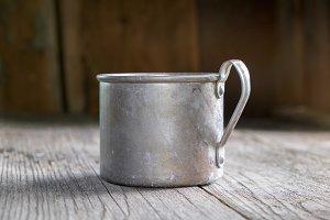 Vintage rustic mug.