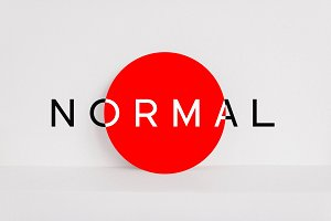 NORMAL - Minimal Typeface + WebFonts