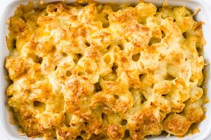 Typical American macaroni and cheese