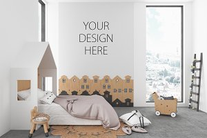 Interior mockup - nursery background