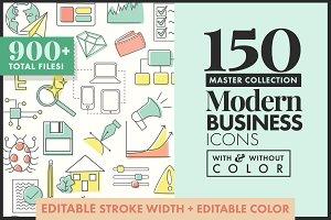 Master Icon Pack 150+ color/no color