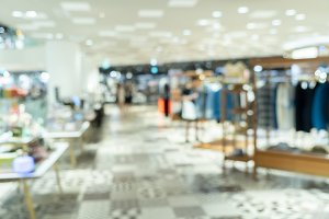 Abstract blurry background of retail