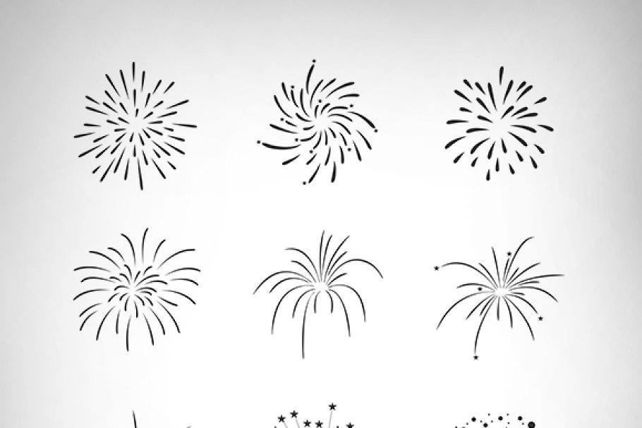 Firecrackers Vector Set