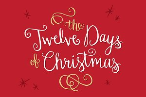 12 Days of Christmas Words