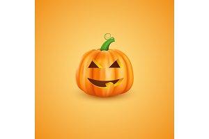 Halloween pumpkin in 3d realistic