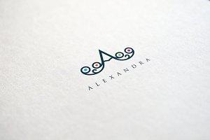 Letter A Peacock Logo