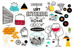 Home Decor and Interior Doodles