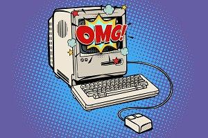 OMG vintage retro computer