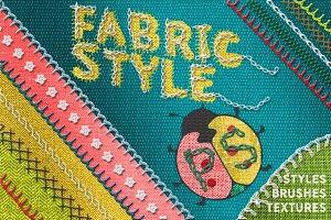 Fabric Styles Brushes for Photoshop