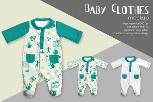 Baby Clothes Mockup