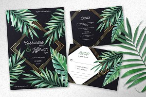 Tropical Midnight Wedding Suite