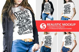 Female Tshirt Mockups Vol-2.4