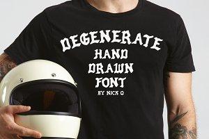 Degenerate - Hand Drawn Font