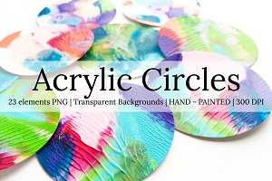 Circles acrylic hand painted