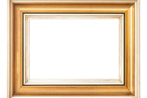 Vintage golden picture frame JPG