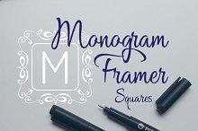 Square Monogram Frames