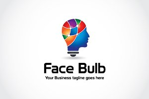 Face Bulb Logo Template