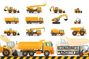 Construction Machinery set.