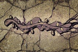 Snake Drawing Dark Scene