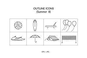 Summer Outline Icon