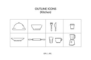 Kitchen Outline Icon