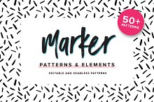 Marker Patterns & Elements by  in Patterns