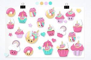 Unicorn cup cakes graphics