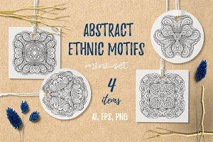 Abstract ethnic motifs mini-set