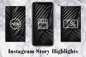 Shop Instagram Story Icons