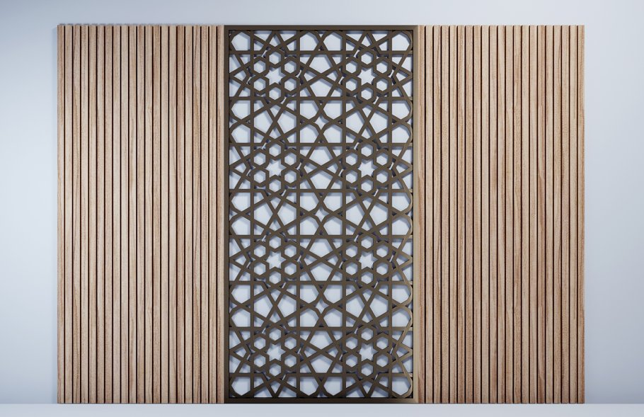 GOLD WOODEN WALL PANEL DECORATION