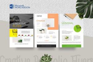 Minimal Creative Word Flyers 3 in 1