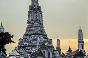 The Wat Arun in the city of Bangkok
