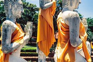 Buddha statues. Bangkok thailand