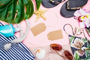 Womans summer beach accessories