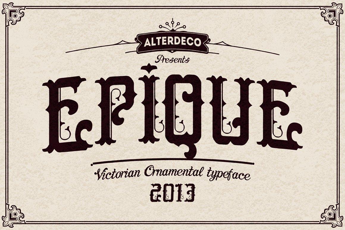 Epique typeface ~ Display Fonts ~ Creative Market
