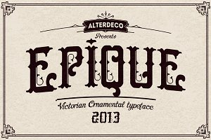 Epique typeface