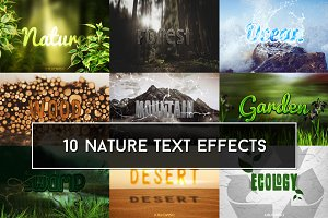 Nature Text Effects