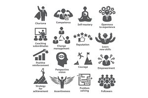 Business management icons Pack 45