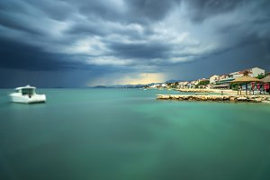 View on adriatic coast line