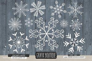 Snowflakes christmas rustic wood