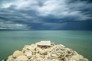 Adriatic sea befor the storm