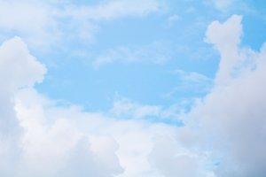Soft clouds in blue sky