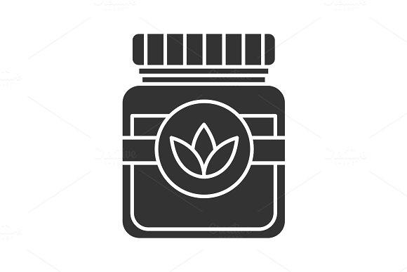 Tea jar glyph icon