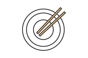 Chopsticks color icon
