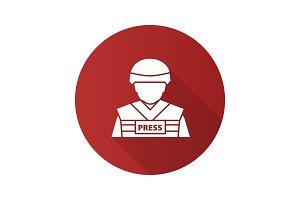 War correspondent icon