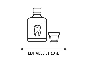 Mouthwash linear icon
