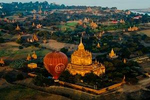 Ballooning at the dawn over Bagan, M