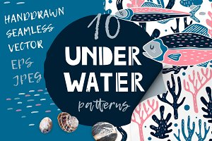 UNDERWATER | Seamless patterns pack