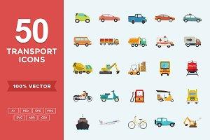 Flat Icons Transport Set