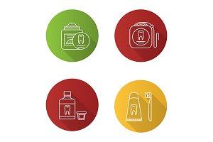 Dentistry icons set